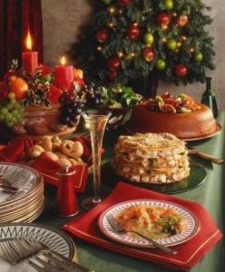 Новогодний праздник - праздничное застолье